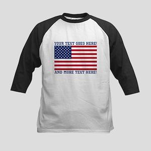 Personalized Patriotic American Flag Classic Baseb