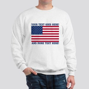 Personalized Patriotic American Flag Classic Sweat