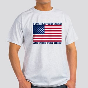 4ffe3b1fe71 Personalized Patriotic American Flag Classic T-Shi