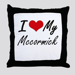 I Love My Mccormick Throw Pillow