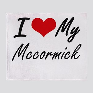 I Love My Mccormick Throw Blanket