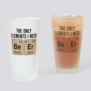 Beer Chemistry Elements Drinking Glass