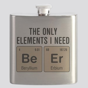 Beer Chemistry Elements Flask