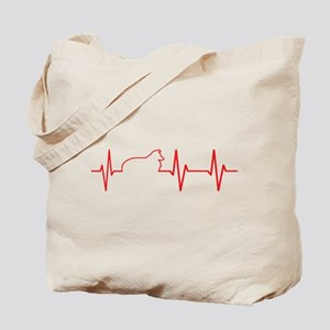 Sheltie Heartbeat Tote Bag