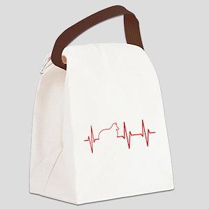 Sheltie Heartbeat Canvas Lunch Bag