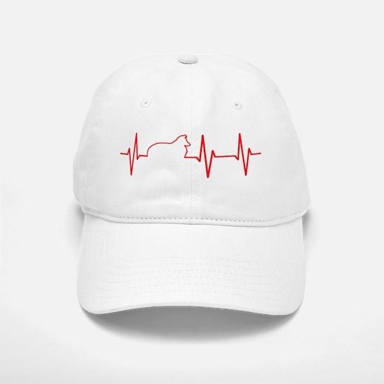 Sheltie Heartbeat Baseball Baseball Cap