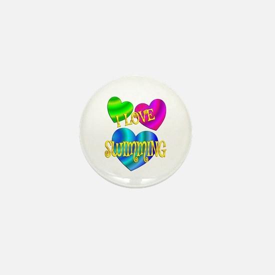 I Love Swimming Mini Button