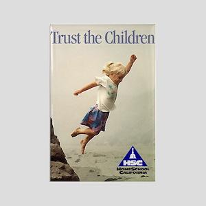 Trust the Children Rectangle Magnet