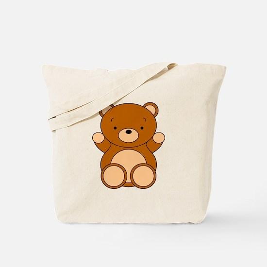 Cute Cartoon Bear Tote Bag