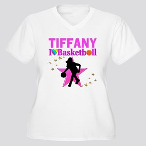 BASKETBALL STAR Women's Plus Size V-Neck T-Shirt