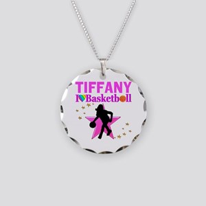 BASKETBALL STAR Necklace Circle Charm