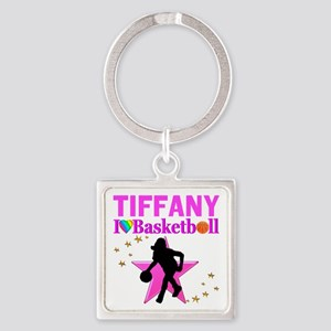 BASKETBALL STAR Square Keychain