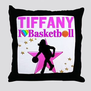 BASKETBALL STAR Throw Pillow