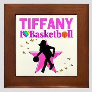 BASKETBALL STAR Framed Tile