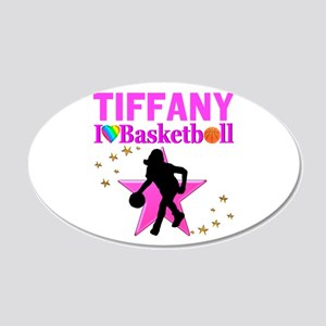 BASKETBALL STAR 20x12 Oval Wall Decal