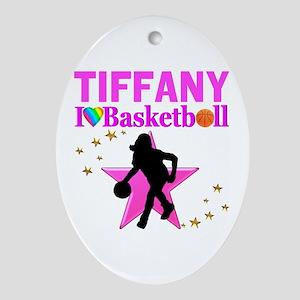BASKETBALL STAR Oval Ornament