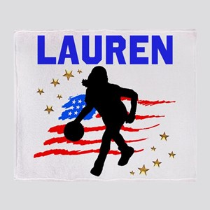 BASKETBALL STAR Throw Blanket