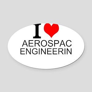 I Love Aerospace Engineering Oval Car Magnet