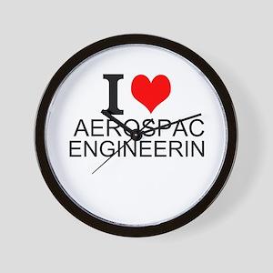 I Love Aerospace Engineering Wall Clock