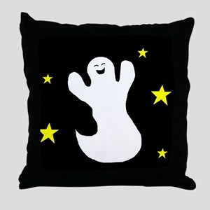 GHOST AT NIGHT Throw Pillow