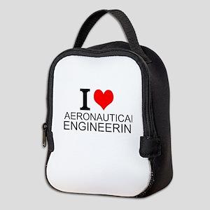 I Love Aeronautical Engineering Neoprene Lunch Bag