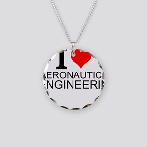 I Love Aeronautical Engineering Necklace
