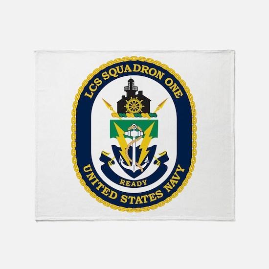 LCS Squadron 1 Crest Throw Blanket