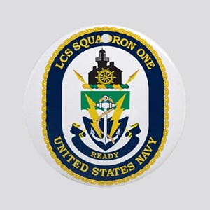 LCS Squadron 1 Crest Round Ornament