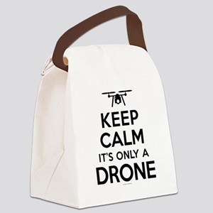 Keep Calm Drone Canvas Lunch Bag