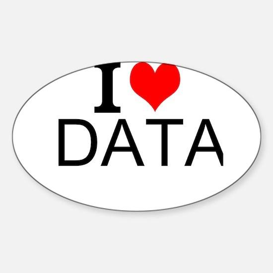 I Love Data Decal