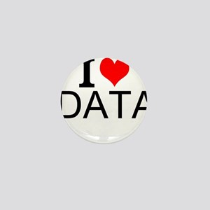 I Love Data Mini Button