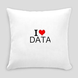 I Love Data Everyday Pillow