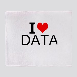 I Love Data Throw Blanket