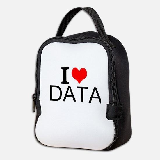 I Love Data Neoprene Lunch Bag