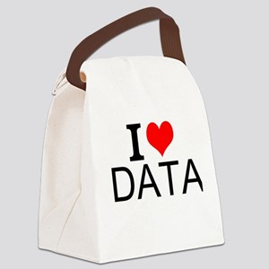 I Love Data Canvas Lunch Bag