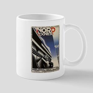 Vintage poster - Nord Express Mugs