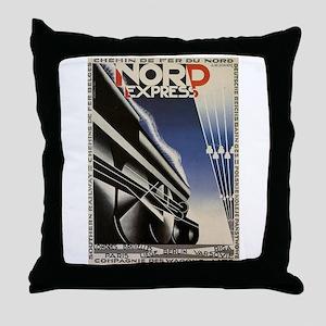 Vintage poster - Nord Express Throw Pillow
