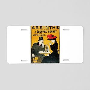 Vintage poster - Absinthe Aluminum License Plate