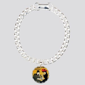 Vintage poster - Absinth Charm Bracelet, One Charm