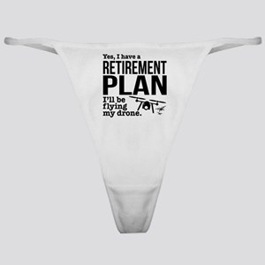 Drone Retirement Plan Classic Thong