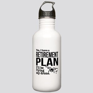 Drone Retirement Plan Stainless Water Bottle 1.0L