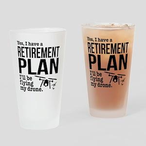 Drone Retirement Plan Drinking Glass