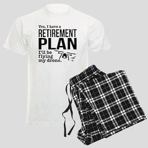 Drone Retirement Plan Men's Light Pajamas