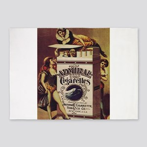 Vintage poster - Admiral Cigarettes 5'x7'Area Rug