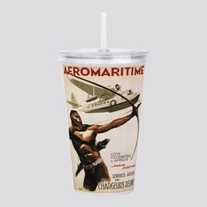 Vintage poster - Aerom Acrylic Double-wall Tumbler