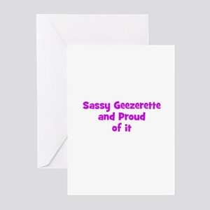 Sassy Geezerette and Proud of Greeting Cards (Pk o
