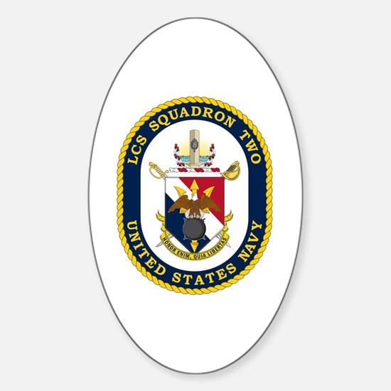 LCS Squadron 2 Crest Sticker (Oval)