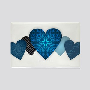 Blue Hearts Magnets