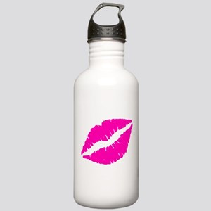 Sexy Pink Lips Kiss Stainless Water Bottle 1.0L