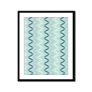 Wavy Pattern Framed Panel Print